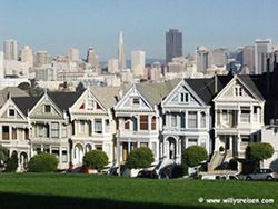 Painted Ladies am Alamo-Square