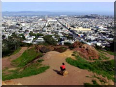 Corona Heights Park in San Francisco, Kalifornien