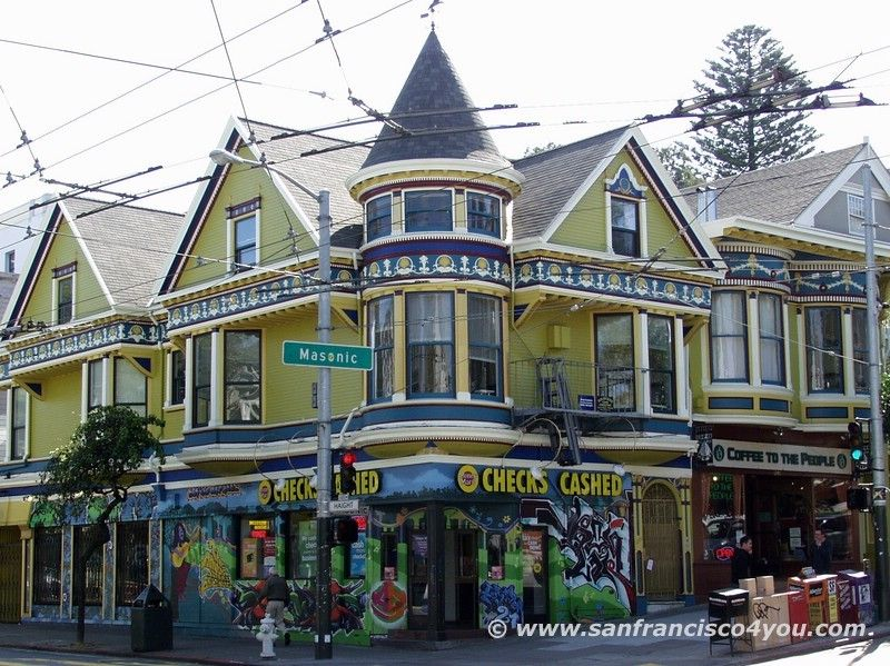 Haight Ashbury Das Ehemalige Viertel Der Hippies In San