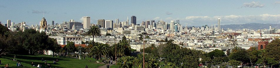 San Francisco vom Mission Dolores Park aus