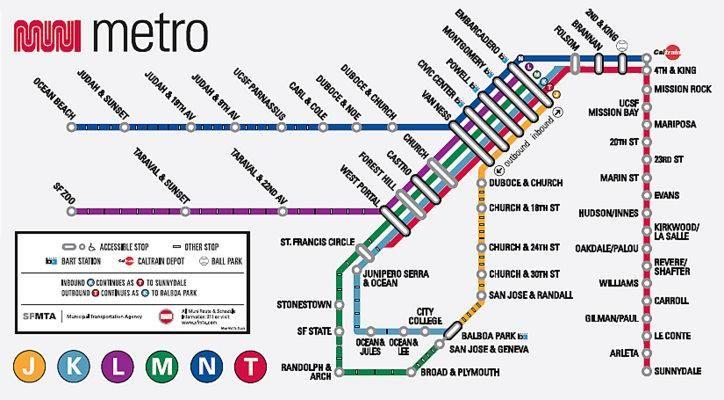 Metrolinien In San Francisco 246 Ffentliche Verkehrsmittel