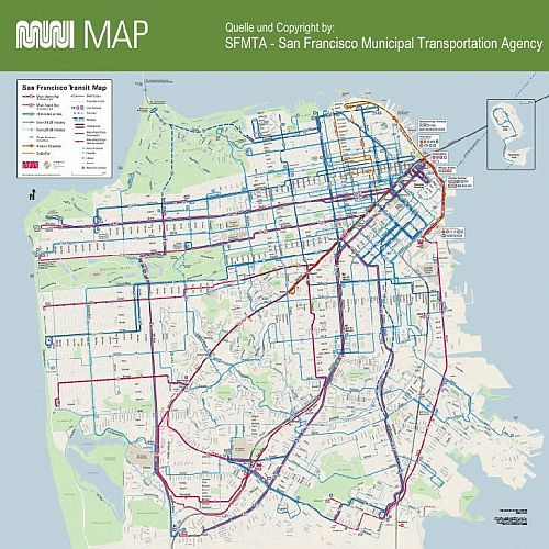 New Orleans Cable Car Map