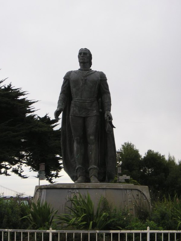 Kolumbusdenkmal am Coit Tower